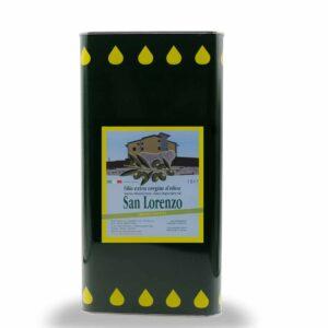 Olio Biologico San Lorenzo Extra Vergine Latta Da 5 Lt